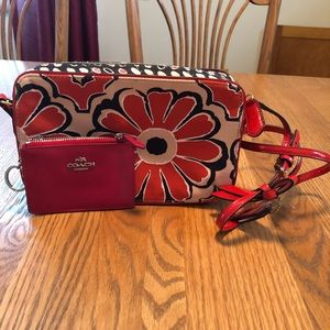 Coach BUNDLE floral crossbody & coin purse